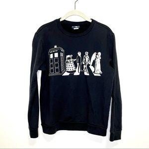 Doctor Who Sweatshirt Abbey Road S Black White